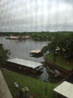 Lake view from condo french door.