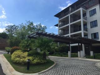 Entrance to the condo building