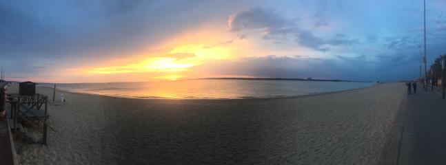 foto panoramica de las bonitas puestas de Sol