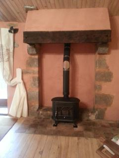 The new woodburner stove in The Veranda Room to keep you cosy and warm