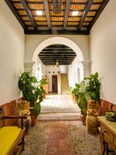 Casa Blanca's main entrance. The home is just two blocks from Antigua's Central Park!