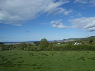 Views out across Red Wharf Bay and Pentraeth Forest
