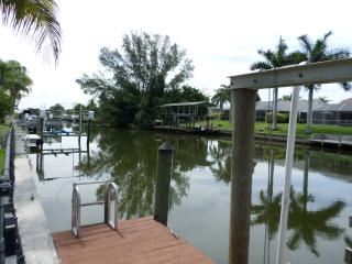 Wide Canal...Great for fishing and watching the Manatee and fish.