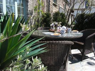 al fresco on the sun filled  patio