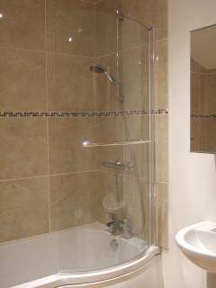 La Grange - Master bedroom en-suite bathroom with bath and shower