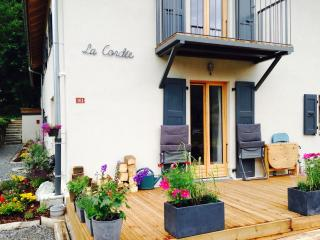 New apartment in lovely spot with great deck, Chamonix
