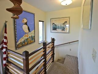 Stairs to upper living area.