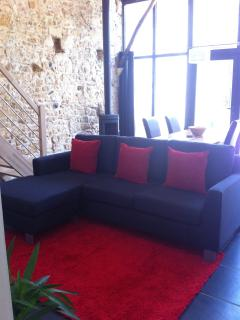 La Petite Grange - lounge area with plenty of seating for 4 people