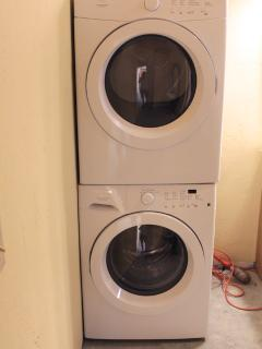 Washer & Dryer in the apartment. Detergent, too.