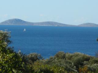 Meerblick mit Nationalpark Kornati im Hintergrund