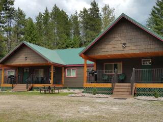 Moose Creek at Lazy Bear Lodging near Glacier Park, Hungry Horse