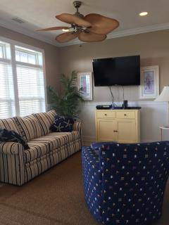 New furniture (June 2015) in the 2nd floor living room with 46' Smart TV and PS3 game console