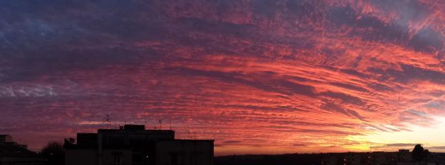 vista tramonto dalla nostra terrazza