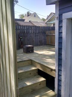 New back deck.