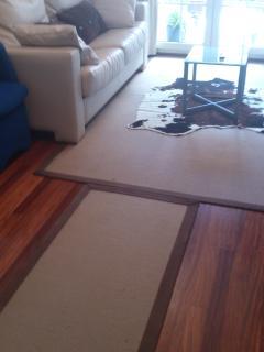 salon con alfombras de nudos.
