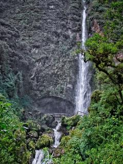 The El Chorro waterfall - an easy walk to the base