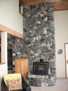 2 Story River Rock Fireplace/Rock from Alaska