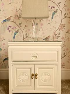 Bedside cabinets with lamps
