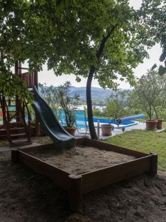 Relaxation with children near the Budapest