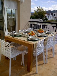 Terraza de la cocina y comedor exterior