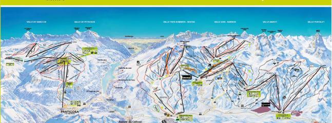 Plano estación esqui