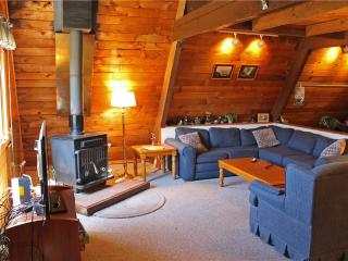 Located at Base of Powderhorn Mtn in the Western Upper Peninsula, An Intimate A-Frame Home with Free-Standing Fireplace, Ironwood