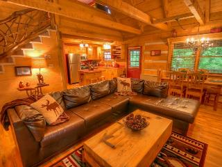 2BR Cabin, Sleeps 8, Creek and Fishing Lake with Rainbow Trout, Central to Attractions, Stone Wood-Burning Fireplace, Wii Game Console, Outdoor Fire Circle, Seven Devils