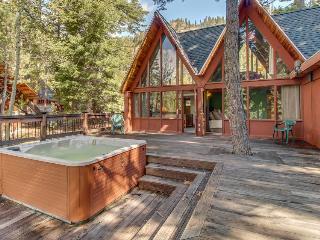 Large, dog-friendly lodge w/ private hot tub, easy ski & beach access!