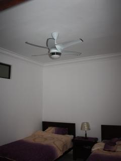 Air-cons and modern fans in every bedroom/living space