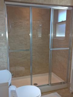 Large 3 door shower