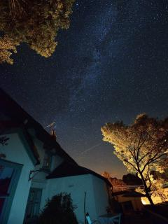 A typical (when clear) starry night (view from back of main house)