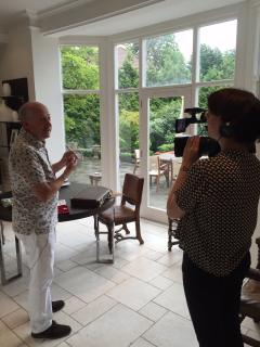 Me filming a new tv show in the hotel next door June 2015