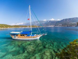 Private gulet cruise w/ 4 large air-con cabins, Kas