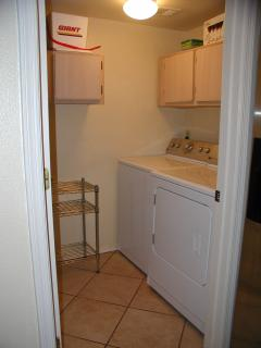condo is equipped with washer/dryer