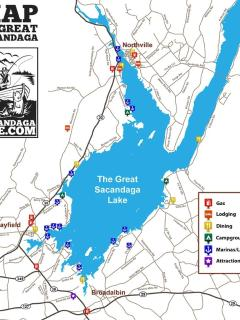 map of Great Sacandaga Lake