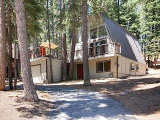 Open, bright A-frame home with a fun-filled game room & great location