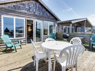 Dog-friendly beach home w/ partial ocean views & hot tub, Rockaway Beach
