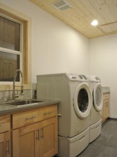 Large washer and dryer in utility room