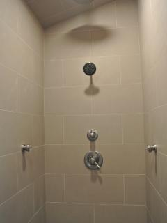 4' x 8' walk in shower in both master suites