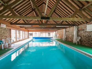A shared heated indoor pool available for use every day from 7am to 10pm.