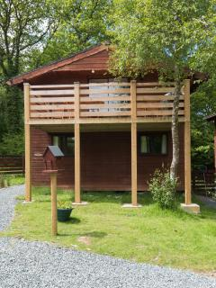 Luxury two storey lodge with large balcony for relaxing and enjoying the views of the lakes