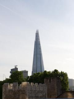 The Shard - just up the river walkway at London Bridge