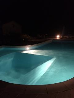 Pool with night lights