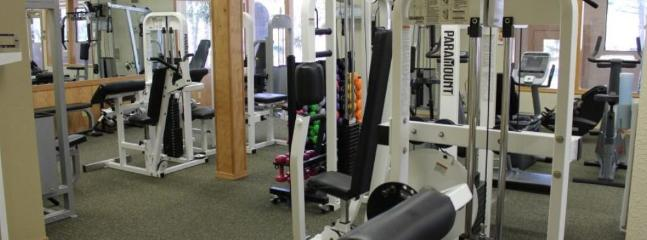 Workout room.