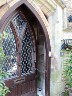 Stained Glass Gothic Door