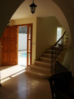 Front door looking onto the pool
