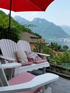 Large terrace with beautiful view on Lake Como.