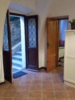 Entrance and door to mountainside bedroom