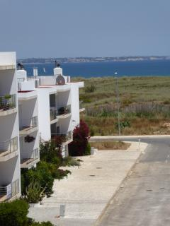 View from apartment towards the Meia Praia Beach