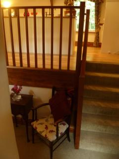 Stairs to upstairs living area